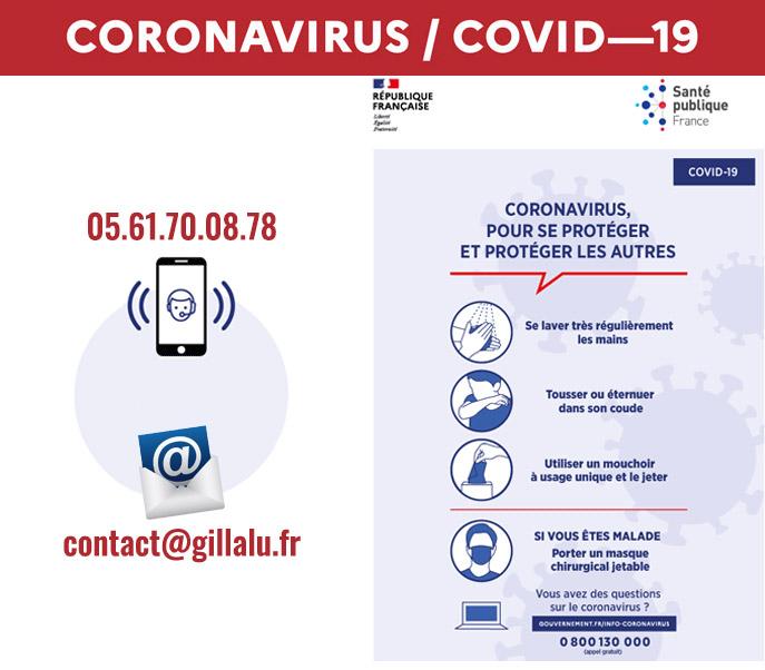 informations Coronavirus covid 19 par Gillalu