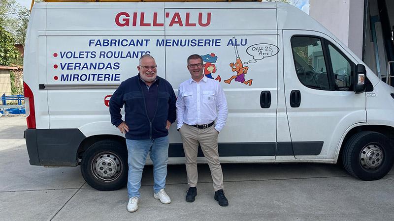 Gilles Buxeraud et Gilles Garcia, entrepreneurs che Gill'Alu menuiseries (Toulouse)